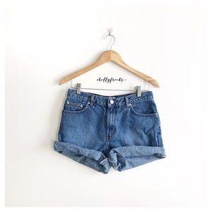 Vintage ∙ Calvin Klein ∙ High-Waisted Denim Shorts